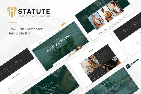 Statute - Law Firm &  Attorney Elementor Template Kit - Finance & Law Elementor