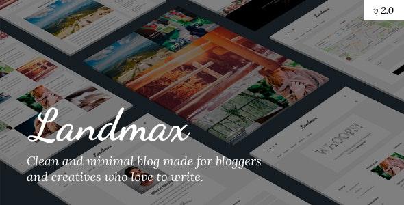 Landmax WP - Minimal Blog Theme - Personal Blog / Magazine