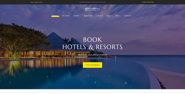 Rominal - Hotel Booking WordPress Theme