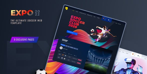 Expo2022   Exclusive Soccer Sports Portal Figma Web Template