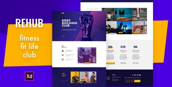 Rehub - Fitness Club Design Template - Business Corporate