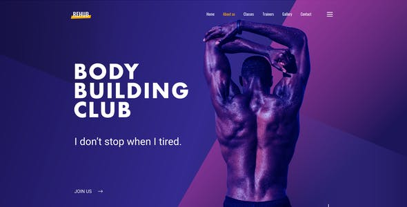 Rehub - Fitness Club Design Template