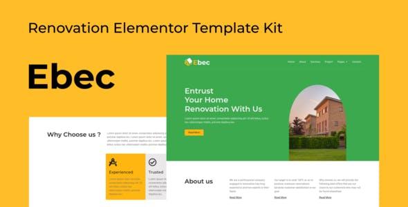 Ebec - Renovation Elementor Template Kit