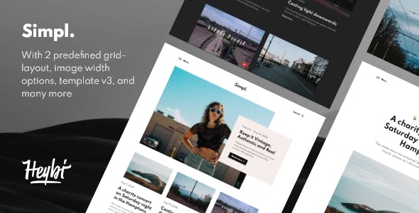 Simpl: Responsive Grid-layout Theme for Blogspot