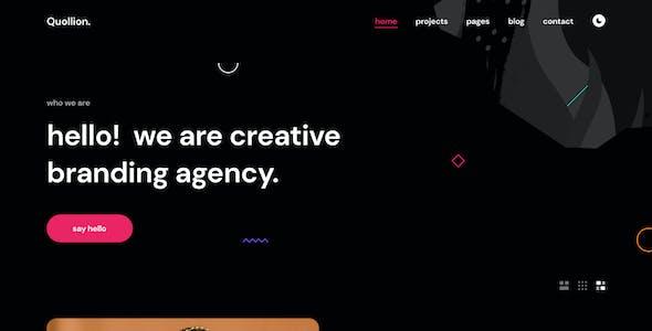 Quollion - Colorful Agency & Portfolio Figma Template