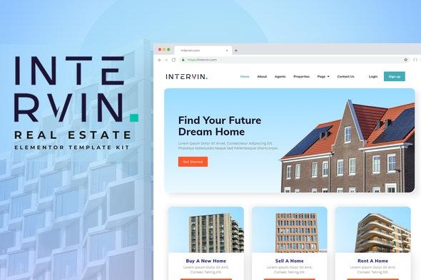 Intervin - Real Estate Elementor Template Kit - Real Estate & Construction Elementor