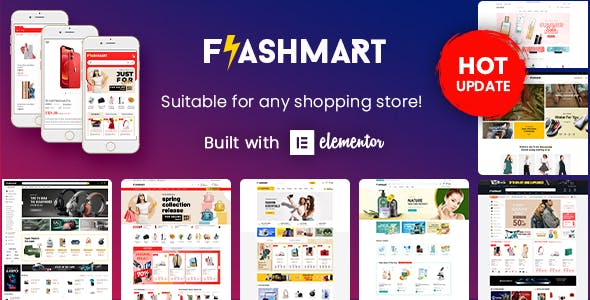 FlashMart - Multipurpose Elementor WooCommerce WordPress Theme (10+ Homepages & Mobile Layout Ready)