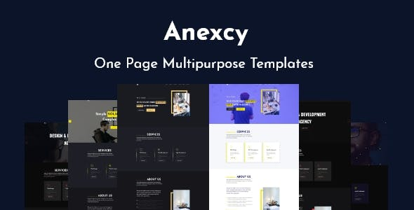 Anexcy - Multipurpose  HTML5 Onepage Template