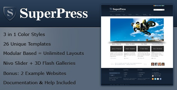 SuperPress Theme, Business+Portfolio+Magazine HTML - Corporate Site Templates