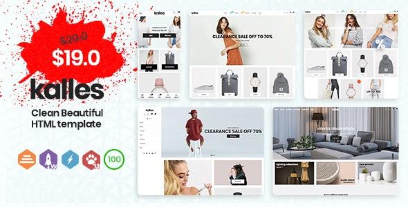 Kalles - eCommerce HTML Template - Retail Site Templates