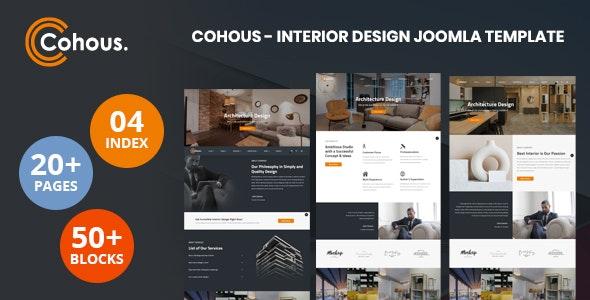 Cohous - Interior Design Helix Ultimate Joomla Template - Business Corporate