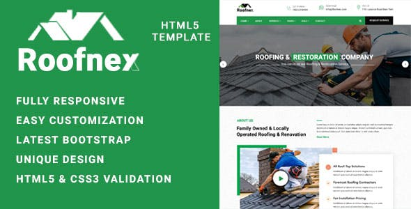 Roonex - Roofing Services HTML Template