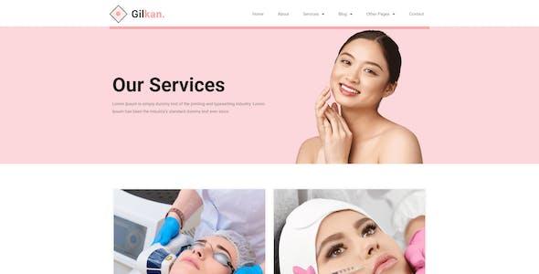 Gilkan - Dermatology & Skin Care Elementor Template Kit