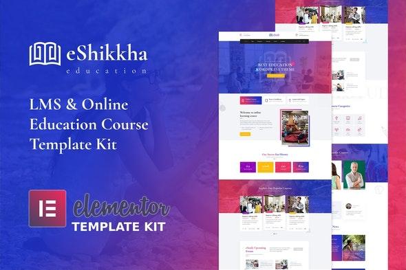 eShikkha - eLearning Elementor Template Kit - Education Elementor