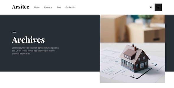 Arsitec - Architecture and Interior Elementor Template Kit