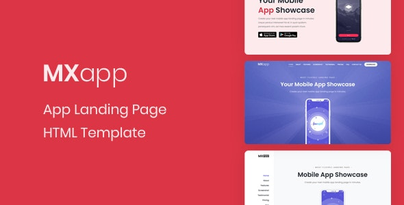 MXapp - App Landing Page - Technology Landing Pages