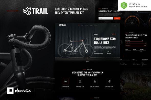 Trail – Bike Shop & Bicycle Repair Elementor Template Kit - Sport & Fitness Elementor
