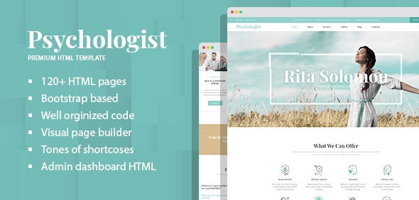 Psychologist - Personal Single & Multi Page HTML Template with Builder - Business Corporate