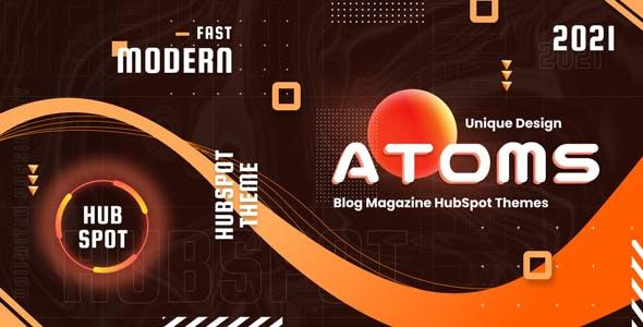 Atoms - Magazine and Blog HubSpot Theme