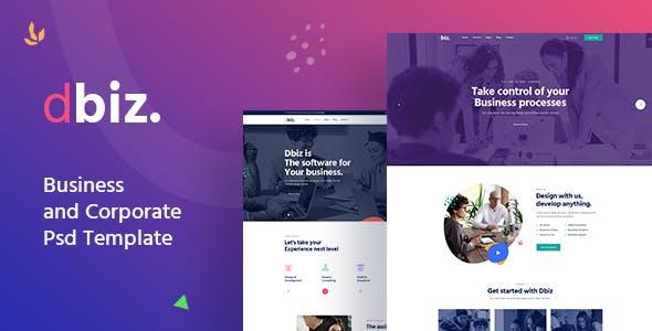 Dbiz - Modern Business and Corporate Psd Template