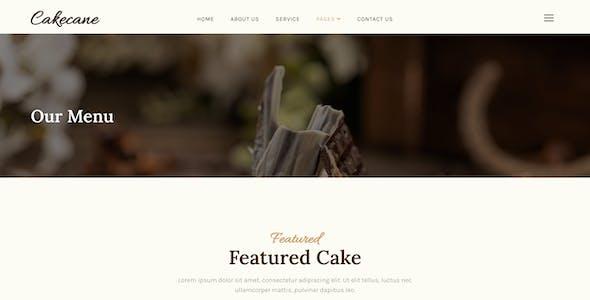 Cakecane – Cake & Pastry Elementor Template Kit