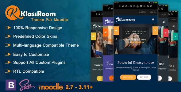 Klassroom - Premium Moodle Theme - Moodle CMS Themes