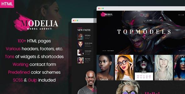 Modelia - Modeling Agency HTML Template