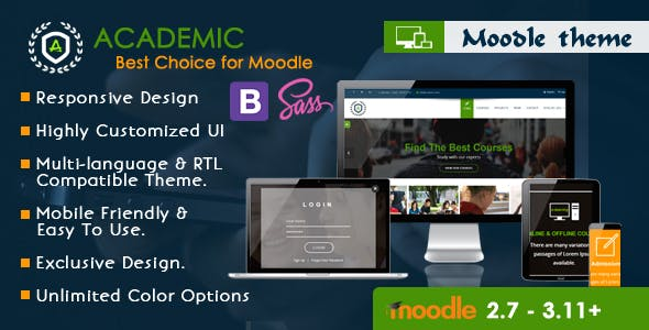 Academic - Responsive Moodle Theme