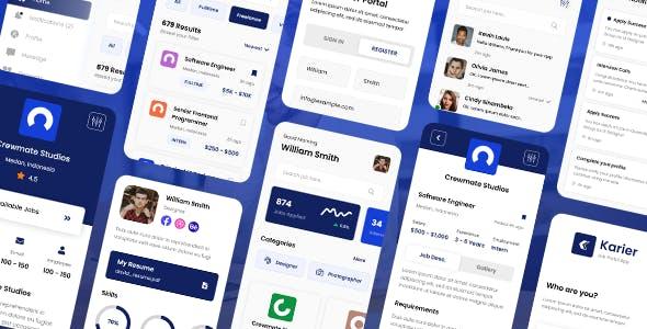 Karier - Job Portal Mobile App Framework7 PWA Template