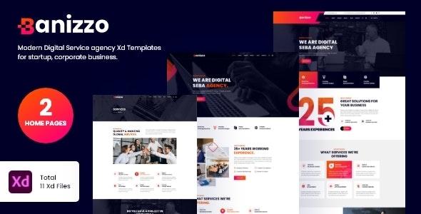 Banizzo - Digital Agency XD Template - Creative Figma