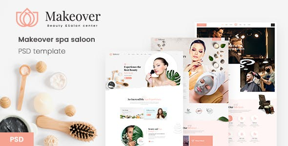 Makeover spa saloon PSD template