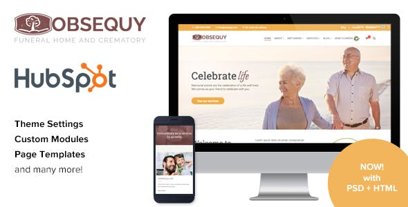 Obsequy - Funeral Home HubSpot Theme
