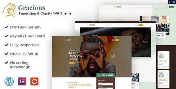 Gracious - Charity and Donation WordPress Theme - Charity Nonprofit