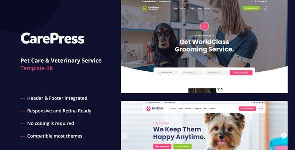CarePress - Pet Care & Veterinary Elementor Template Kit