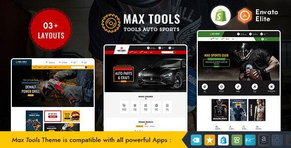 Max Tools - Shopify Multi-Purpose Responsive Theme - Shopify eCommerce