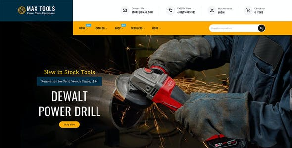 Max Tools - Shopify Multi-Purpose Responsive Theme