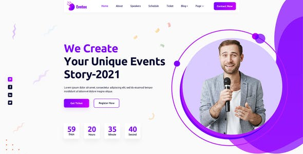 Evntox - Event & Conference HTML5 Template