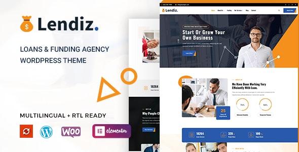 Lendiz - Loan & Funding Agency WordPress Theme - Business Corporate