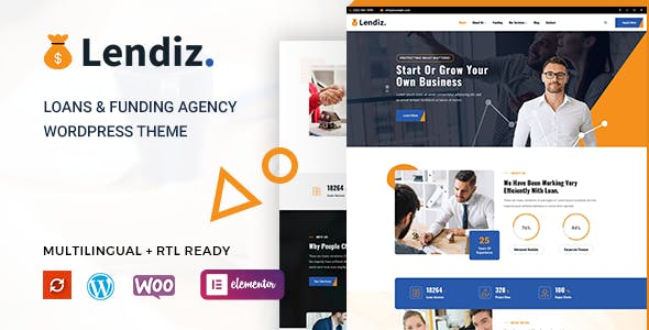 Lendiz - Loan & Funding Agency WordPress Theme