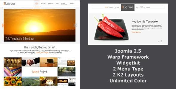 Loroe - Responsip Joomla Template - Joomla CMS Themes