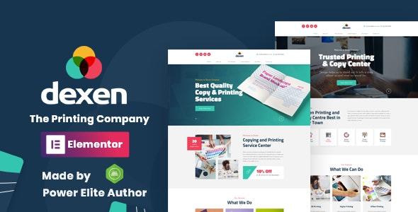 Dexen - Printing Company WordPress Theme - Business Corporate