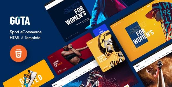 Gota - Sport eCommerce HTML5 Template - Shopping Retail