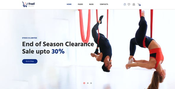 Trali – eCommerce Sportswear Template for XD