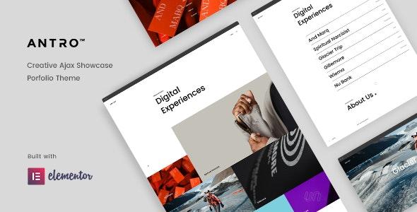 Antro - Creative Portfolio Theme - Creative WordPress