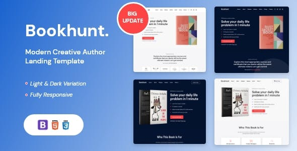 Bookhunt - Book Landing Template With RTL Version