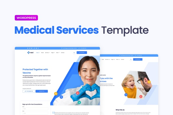 Vaxi – Covid-19 Vaccination & Health Services Elementor Template Kit - Health & Medical Elementor