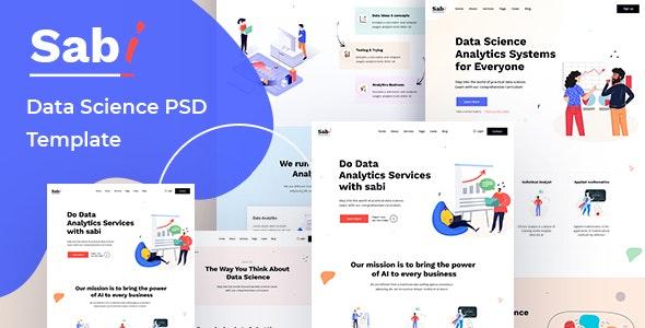 Sabi - Digital Data Science PSD Template - Technology Figma