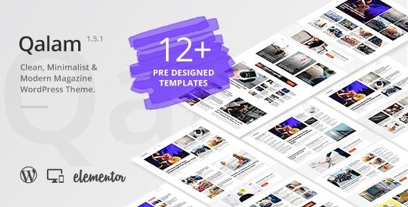 Qalam - NewsPaper and Magazine WordPress Theme - Blog / Magazine WordPress