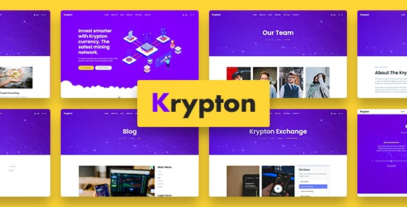 Krypton - Bitcoin Crypto Currency Joomla Template
