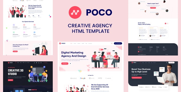 Poco - Bootstrap 4 Agency HTML Template - Business Corporate